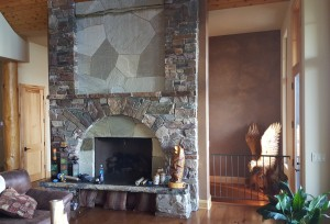 Faux fireplace Whittiker